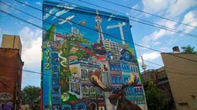 Every Toronto reference (we could find) in Uber5000's new mural