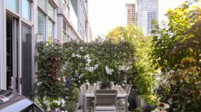 How a landscape architect turned his 300-square-foot balcony into a lush private oasis