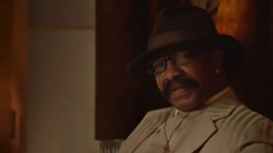 Drake's dad is helping him sell whiskey
