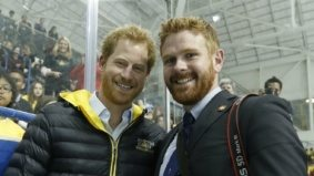 People are confusing Trudeau's photographer for Prince Harry—and the PM is playing along