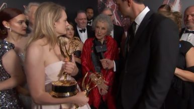 What people were saying about Margaret Atwood's Emmy moment