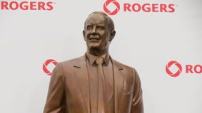 The Ted Rogers statue at Rogers Centre is gone