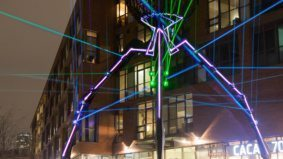 A laser spider, a pyramid made from 200,000 gummy bears and all the other gorgeous glowing attractions at the Toronto Light Festival