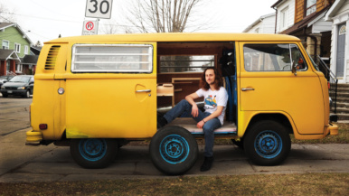 He bought a 1979 VW van on Craigslist for $3,000 and headed for Burning Man