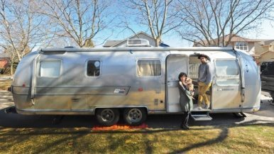They found this '76 Airstream on Kijiji for $13,000, spent $47,000 to fix it up and hit the road