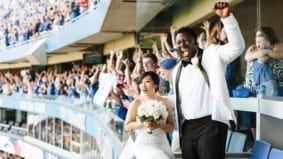 Real Weddings: Inside a sporty celebration at a Jays game