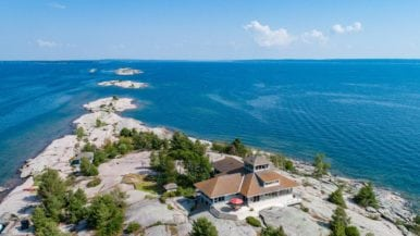 Cottage of the Week: $3.3 million for a window-lined retreat on a private Georgian Bay island