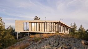 How an architect turned a private island in Georgian Bay into a modernist family retreat