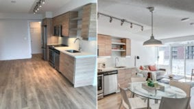 How a stager turned an empty condo into a sleek, modern home