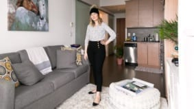 How a 27-year-old account director lives in 330 square feet