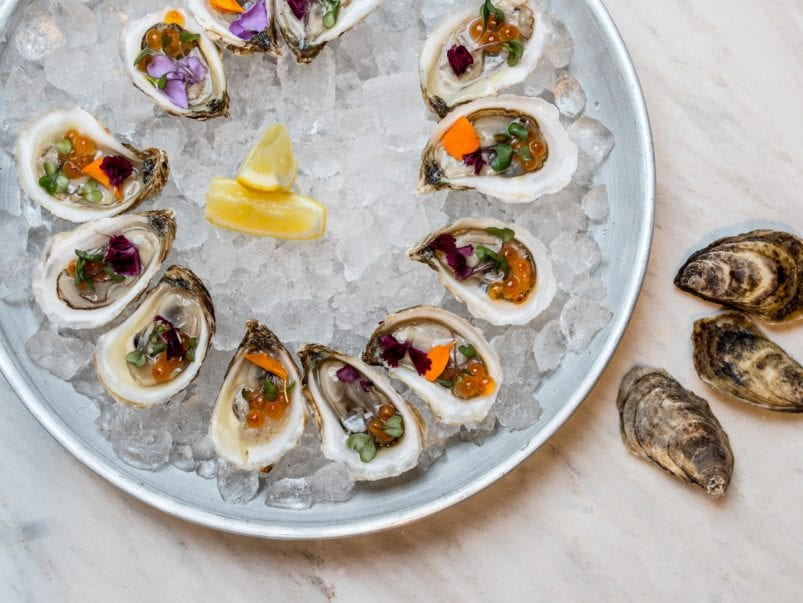 What's on the menu at Coffee Oysters Champagne, a splashy new lounge on King West