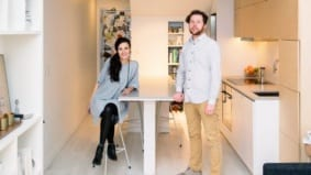 How a pair of 30-somethings live in 450 square feet