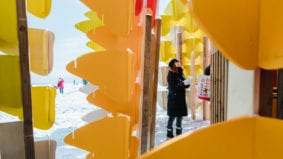 A look at the massive art installations taking over Woodbine Beach right now