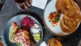 What's on the menu at the Annex Hotel's wine bar and restaurant