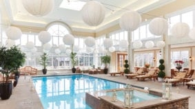 Take a look inside a Bridle Path mansion's indoor pool room