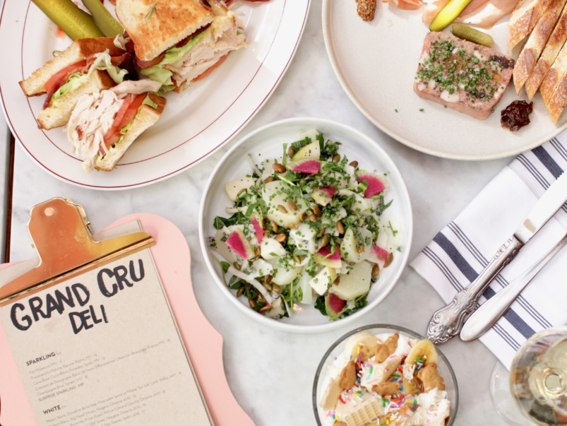 What's on the menu at Grand Cru Deli, a new wine bar in the Entertainment District