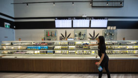 Inside Nova, a cannabis store with a deli-style weed display, high-tech accessories and 3-D art installations