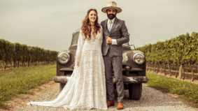 Real Weddings: Inside a hipster hatmaker's countryside celebration