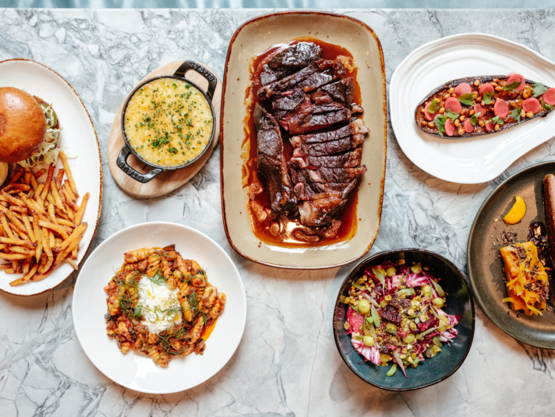 What's on the menu at CRU, the Financial District's new spot for massive ribeyes and plant-based pastas
