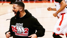 """When the ball is in play, sit the FCK down"": Twitter's take on Drake's courtside behaviour"