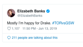 Celebs across the world are congratulating the Raptors on their first NBA championship