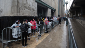 Some Raptors fans lined up at 6 a.m. to get into Jurassic Park