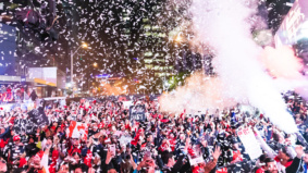 Scenes from Thursday's epic city-wide celebration