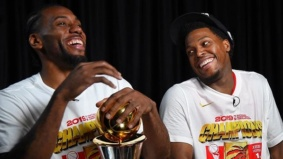 Here's how the Raptors celebrated their historic win