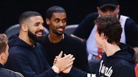 Which celebrities have taken sides in the Raptors vs. Warriors showdown?