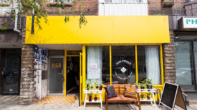 Inside Miss Pippa's, a charming new flower shop and wine bar in Brockton Village