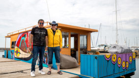 This Indigenous artist turned a houseboat into a floating work of art