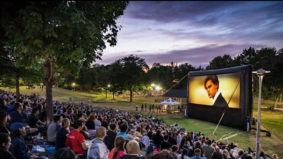 There's a free movie coming to a park (or ravine or beach or patio) near you