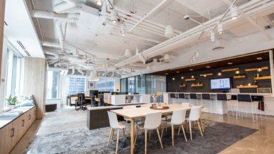 This office furniture company's new downtown office doubles as a showroom