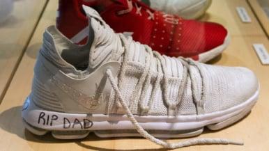 A closer look at the Raptors' championship shoes