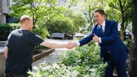 What people are saying about Andrew Scheer's awkward arm's-length handshake