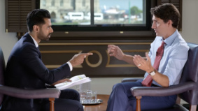 A minute-by-minute analysis of Justin Trudeau's cringe-worthy appearance on <em>Patriot Act with Hasan Minhaj</em>