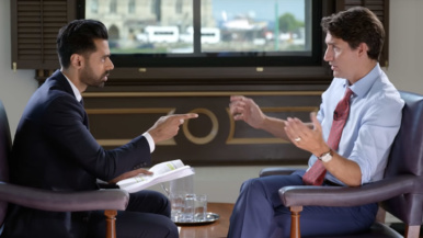 A minute-by-minute analysis of Justin Trudeau&#8217;s cringe-worthy appearance on <em>Patriot Act with Hasan Minhaj</em>