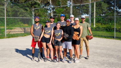 These condo-dwellers have their own softball team