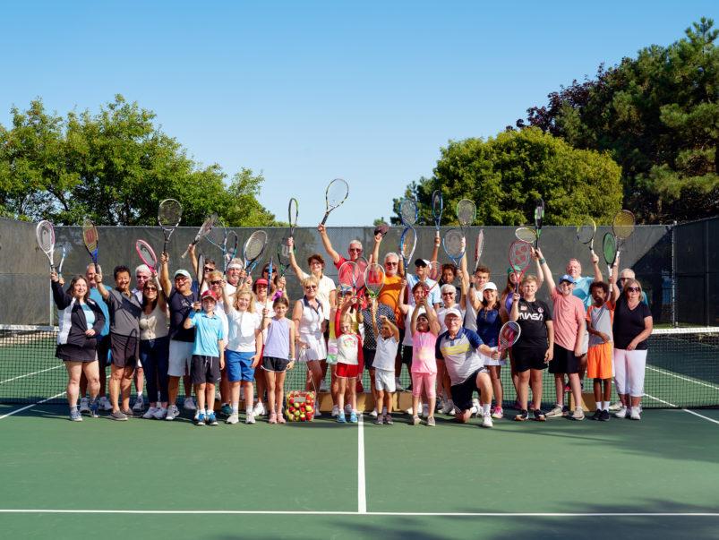 The tennis-crazed condo