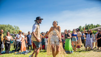 Real Weddings: Inside a country ceremony inspired by Bollywood and Burning Man