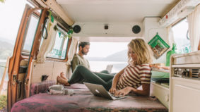 They gave up their condo, bought a VW Westfalia and drove across the country