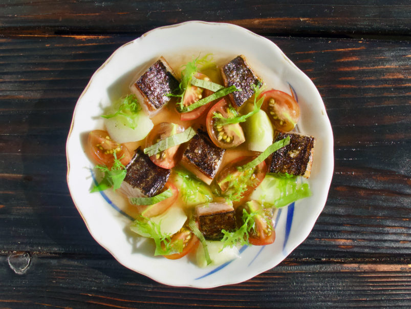 Here's how much it actually costs to make the mackerel sunomono at Sakai Bar