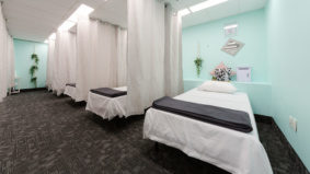 Inside Nap it Up, a new daytime napping studio for office tower workers at Yonge and Eglinton