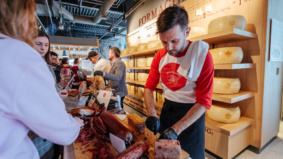 What opening day at Eataly Toronto looked like