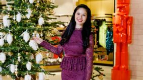 The quest for a classic holiday outfit with a delicate spin