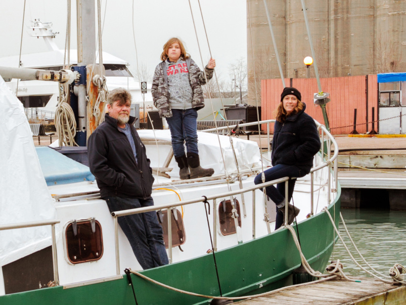 Life Aquatic: How a family of three lives on a 47-foot sailboat in Toronto Harbour