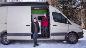 """""""Some people can't imagine emptying a composting toilet"""": How a data analyst and mechanic live in a Mercedes-Benz Sprinter van"""