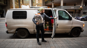 """""""I park near a 24-hour Tim Hortons in CityPlace and use their bathrooms"""": How a 26-year-old German engineer is travelling across Canada in his van"""