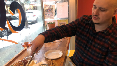 Where chef Jesse Vallins gets stewed oxtail, katsu sandos and cheese fondue in the east end