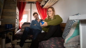 """""""We snuck into a school and used the showers"""": How a graphic designer and a copywriter survive in a van"""